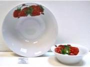 6с2474 Набор салатников 4 предмета фарфор Идиллия Малинка