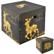 9832 Коробка подарочная новогодняя 15см