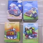 """00407 Пакет подарочный бумажный """"Машинки 3D"""" 31*40*12см 12шт/уп"""