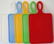 Кухонная доска для нарезки пластиковая 29x18x28 см ММ-Пласт